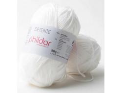 Fil Détente Blanc Phildar 93%Acrylique 7%Elasthanne