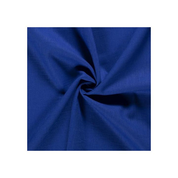 Tissu lin bleu cobalt