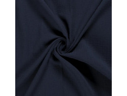 Tissu double gaze marine