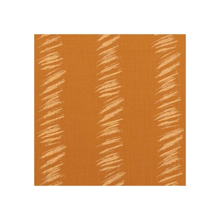 Tissu coton mousseline froissée moutarde - Rico Design