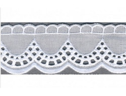 Broderie anglaise blanche - 40 mm