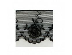 Dentelle valencienne 35 mm - Noire