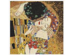 Kit point de croix, Le baiser, Gustav Klimt  DMC
