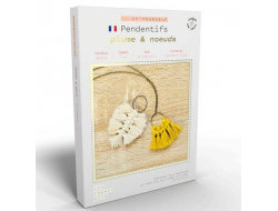 French'kits DIY Pendentifs, Plume et noeuds