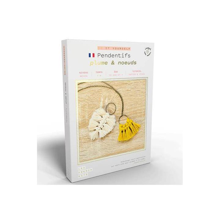 French'kits DIY Pendentifs, Plume et noeuds