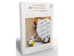 French'kits DIY Porte-clés, Plumes et ponpons