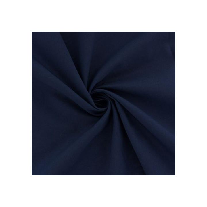 Tissu voile de coton marine