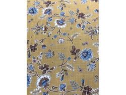 Tissu jaune motif petites fleurs
