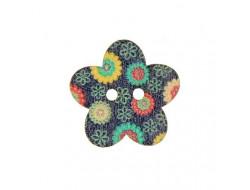 Bouton bois fleur 25 mm