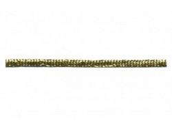 Petite tresse lurex doré 4 mm