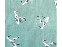 Tissu coton rustique Salinas birds quartz - Katia Fabrics