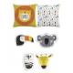Tissu flying heroes pillow panel - Katia Fabrics