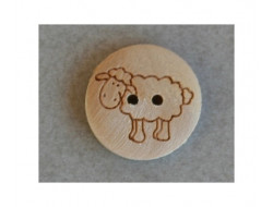Bouton bois mouton