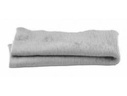 Bas de blouson acrylique/laine gris