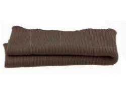 Bas de blouson acrylique/laine marron