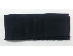 Bas de blouson acrylique/laine bleu nuit