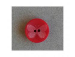 Bouton papillon rouge