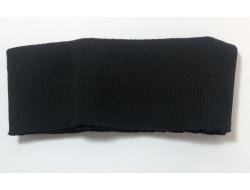 Bas de blouson acrylique/laine noir