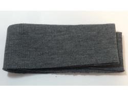 Bas de blouson acrylique/laine gris foncé
