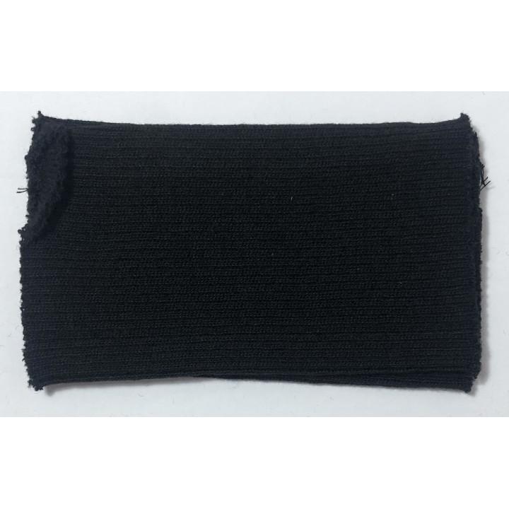 Poignets bords côtes acrylique/laine bleu nuit