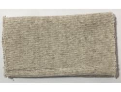 Poignets bords côtes acrylique/laine écru
