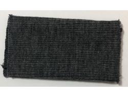 Poignets bords côtes acrylique/laine gris foncé