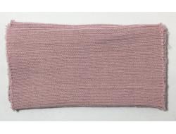 Poignets bords côtes acrylique/laine rose