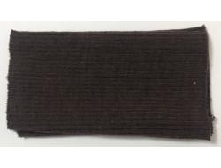 Poignets bords côtes acrylique/laine marron