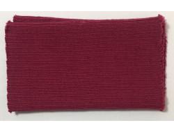 Poignets bords côtes acrylique/laine fushia