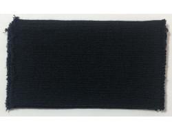 Poignets bords côtes acrylique/laine noir