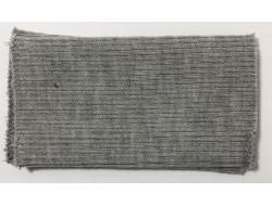 Poignets bords côtes acrylique/laine gris