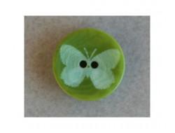 Bouton papillon vert 15 mm