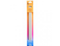 Aiguilles à  tricoter 40 cm du 2,5 au 4 mm double pointes - Jeux de 4 aiguilles