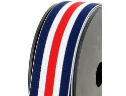 Élastique à bande tricolore - 40 mm