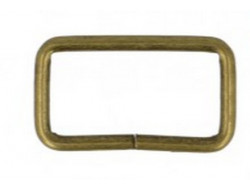 Anneau rectangle en métal bronze 32 mm