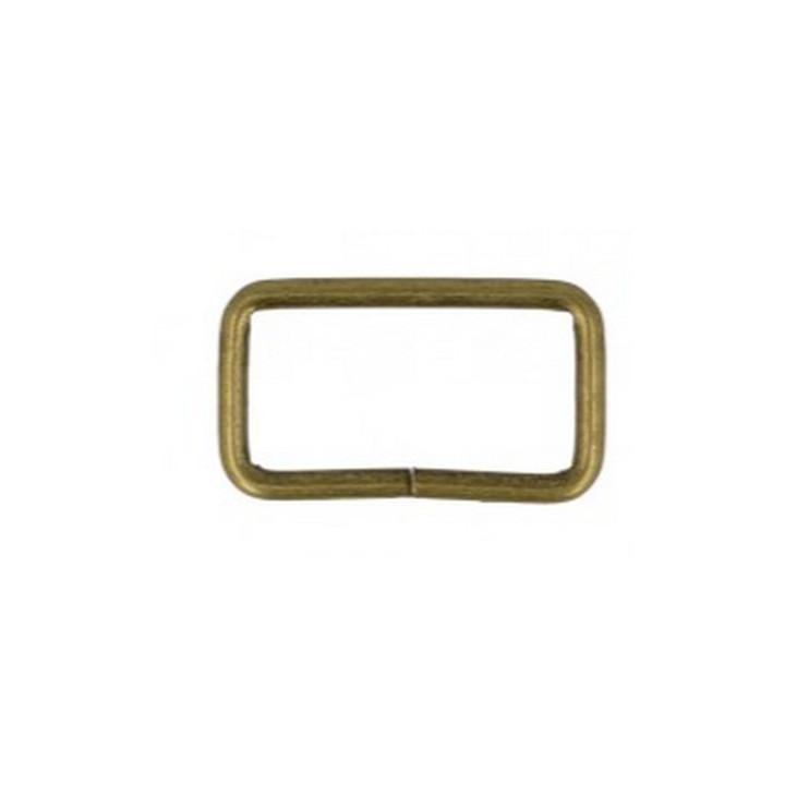 Anneau rectangle en métal bronze 32 mm