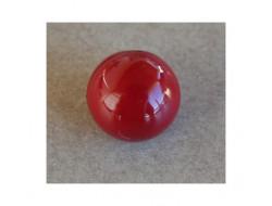 Bouton boule rouge foncé