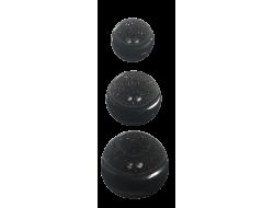 Bouton pailleté noir