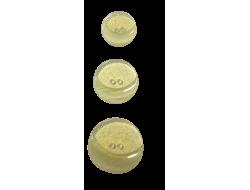 Bouton pailleté jaune
