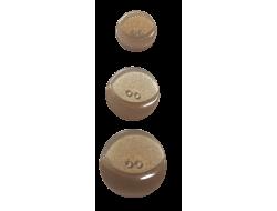 Bouton pailleté marron