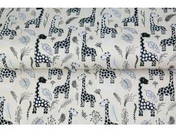 Tissu Stenzo popeline de coton girafe
