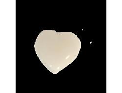 Bouton coeur blanc 1 cm