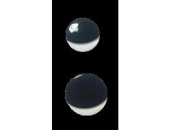 Bouton noir et blanc