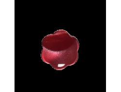 Bouton fleur rouge