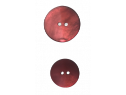 Bouton nacré rouge