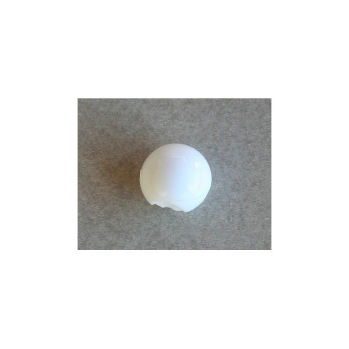 Bouton boule blanc 9 mm