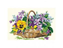 Canevas panier de fleurs, Seg