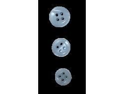 Bouton classique bleu 9, 10 et 12 mm