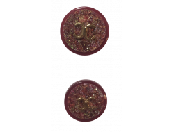 Bouton couture rouge 20 et 25 mm