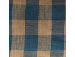 Tissu coton mousseline - Vichy Sand & Blue Katia